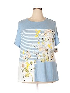 Karen Scott Sport Short Sleeve T-Shirt Size 2X (Plus)