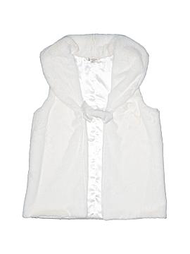 Lands' End Faux Fur Vest Size 10