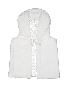 Lands' End Faux Fur Vest Size 14