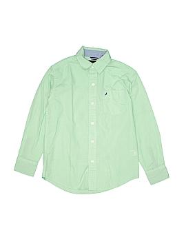 Nautica Jeans Company Long Sleeve Button-Down Shirt Size 8
