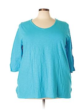Catherines 3/4 Sleeve T-Shirt Size 2X (Plus)