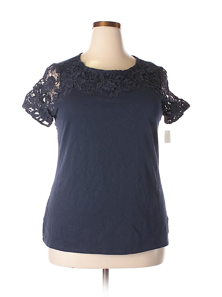 Charter Club Women Short Sleeve Top Size 1X (Plus)
