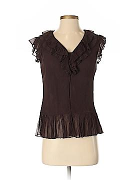Think Tank Short Sleeve Silk Top Size S