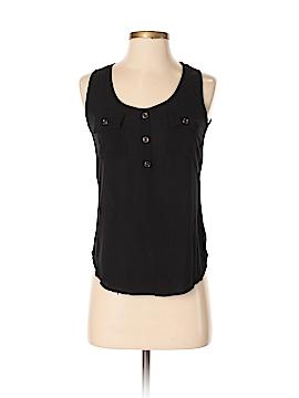 Active USA Collection Sleeveless Button-Down Shirt Size S