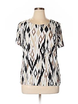 JM Collection Short Sleeve Top Size 0X (Plus)