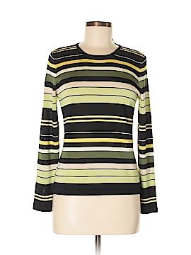 Dana Buchman Long Sleeve Silk Top Size M (Petite)