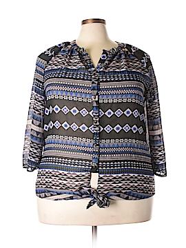 Millenium Long Sleeve Blouse Size 2X (Plus)