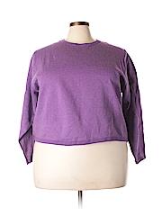 Just My Size Women Sweatshirt Size 18 (Plus)