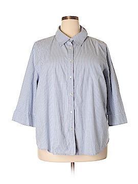 IZOD 3/4 Sleeve Button-Down Shirt Size 3X (Plus)