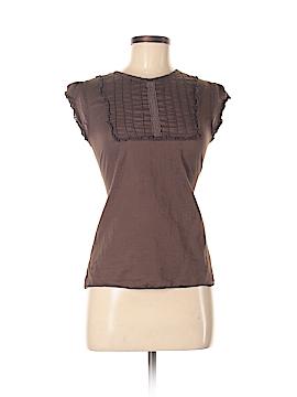 Split Short Sleeve Blouse Size S