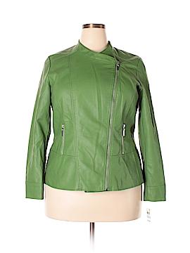 Alfani Faux Leather Jacket Size 3X (Plus)