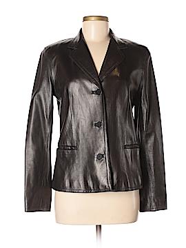 Donna Karan Signature Leather Jacket Size 38 (EU)