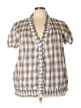 Ashley Stewart Short Sleeve Blouse Size 3X (Plus)