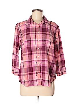 Jcpenney 3/4 Sleeve Button-Down Shirt Size XL (Petite)