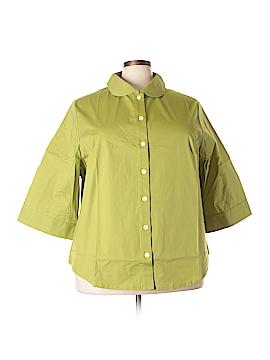 Junonia Long Sleeve Button-Down Shirt Size 3X (Plus)