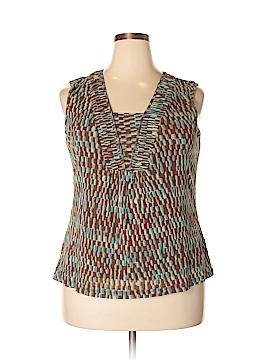 Liz & Co Sleeveless Blouse Size 2X (Plus)