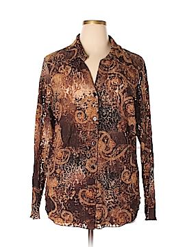 Karen Kane Long Sleeve Blouse Size 2X (Plus)