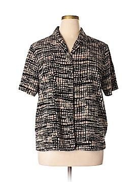 Liz Baker Short Sleeve Button-Down Shirt Size 18 (Plus)