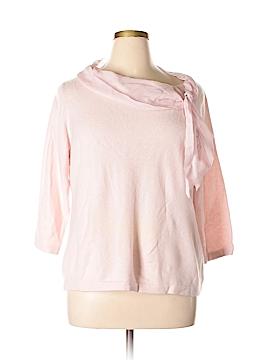 Linda Allard Ellen Tracy Cashmere Pullover Sweater Size 1X (Plus)
