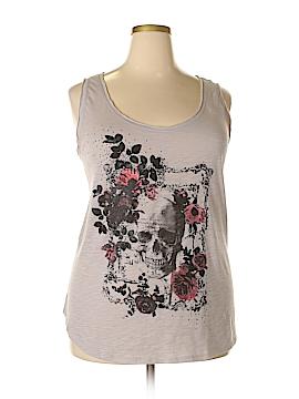 Rock & Republic Sleeveless T-Shirt Size 2X (Plus)