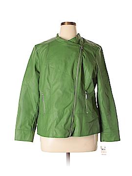 Alfani Faux Leather Jacket Size 2X (Plus)
