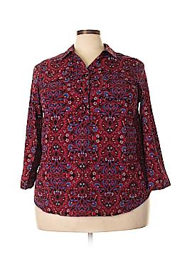Catherines Long Sleeve Blouse Size 3X (Plus)