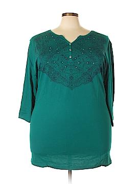 Catherines 3/4 Sleeve Top Size 3X (Plus)