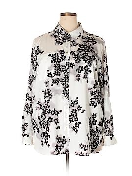Calvin Klein Long Sleeve Blouse Size 1X (Plus)