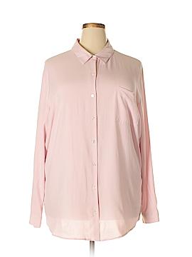 J.jill Long Sleeve Silk Top Size 4X (Plus)