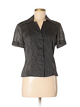 Lida Baday Short Sleeve Button-Down Shirt Size 8