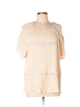 John Paul Richard Short Sleeve Blouse Size XL