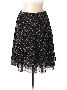 White House Black Market Silk Skirt Size 4