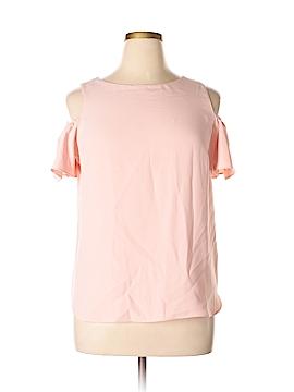 Amanda Uprichard Short Sleeve Blouse Size L
