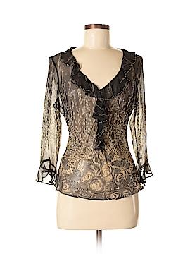 ECI 3/4 Sleeve Silk Top Size M