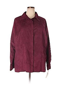 Allison Morgan Long Sleeve Button-Down Shirt Size 2X (Plus)
