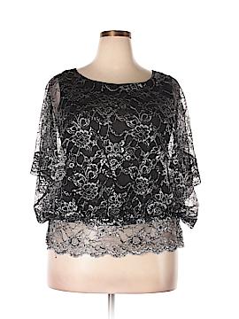 ECI Short Sleeve Blouse Size XL