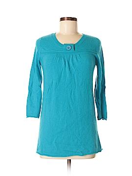 Vertical Design Cashmere Pullover Sweater Size M