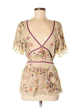 Walter Short Sleeve Silk Top Size M