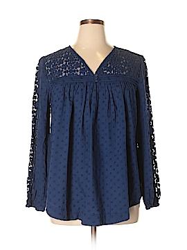Denim 24/7 Long Sleeve Blouse Size 14W