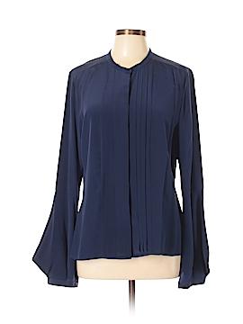 Saks Fifth Avenue Long Sleeve Silk Top Size 12