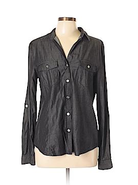 Joe Boxer Long Sleeve Button-Down Shirt Size L
