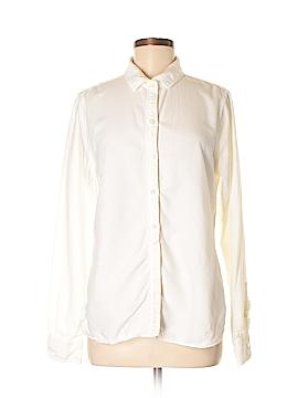 Lands' End Canvas Long Sleeve Button-Down Shirt Size 12