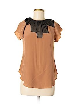 Vena Cava Short Sleeve Silk Top Size 6