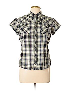 Girl Krazy Short Sleeve Button-Down Shirt Size L