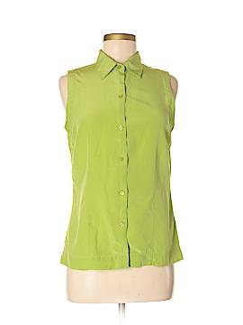 Jaclyn Smith Sleeveless Silk Top Size M