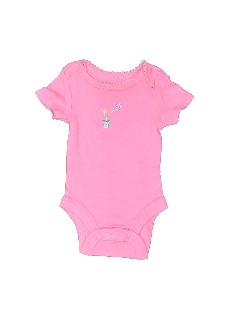 8219ec074 BABIES R US 100% Cotton Graphic Light Pink Short Sleeve Onesie ...