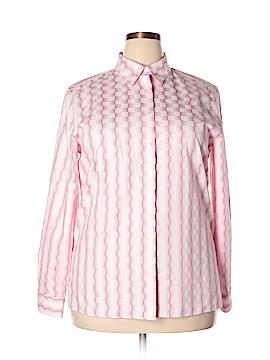 Foxcroft Long Sleeve Button-Down Shirt Size 16