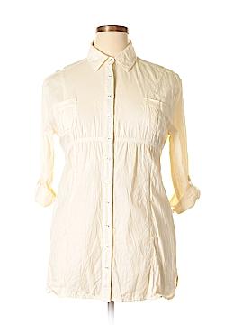Element 3/4 Sleeve Button-Down Shirt Size L