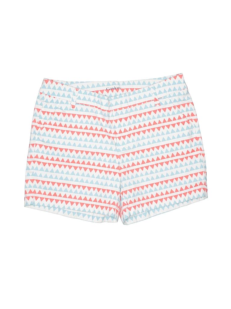 Caslon Women Khaki Shorts Size 8