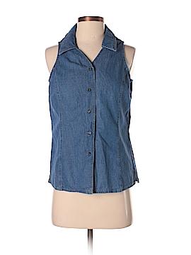 Coldwater Creek Sleeveless Button-Down Shirt Size S (Petite)